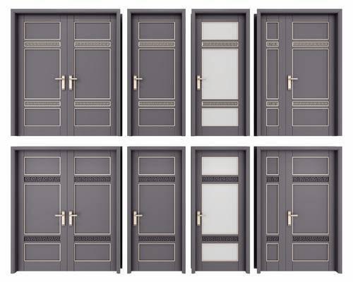 双开门, 子母门, 门组合, 新中式