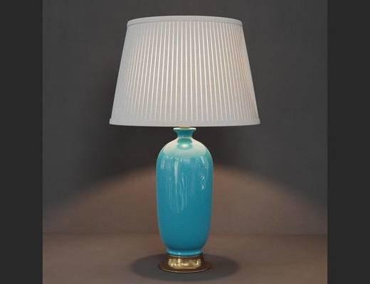后现代, 后现代台灯, 陶瓷台灯, 台灯, 下得乐3888套模型合辑