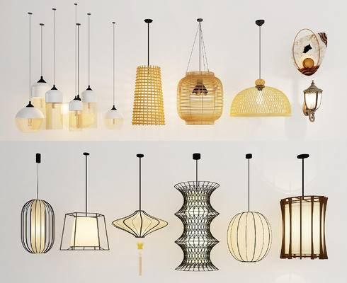 吊灯, 灯具, 现代, 新中式, 灯