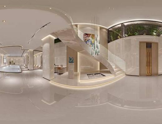 现代, 大厅, 玄关, 家装