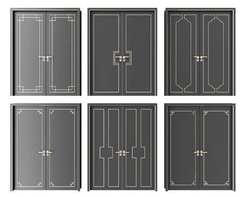 房门, 双开门, 新中式双开门