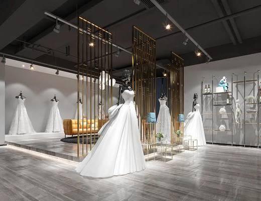 婚纱店, 吊灯, 沙发组合, 楼梯, 会议室