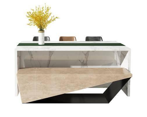 现代, 吧台, 吧椅, 组合
