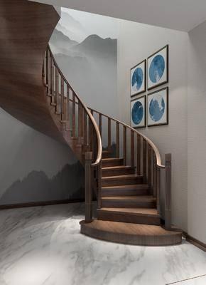 ?#30340;?#27004;梯, 楼梯栏杆, 旋转楼梯, 新中式