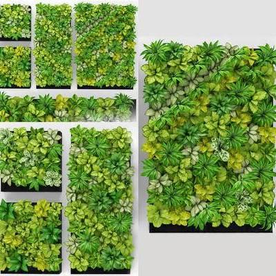 植物背景墙, 背景墙, 绿植背景墙, 现代绿植植物背景墙, 现代
