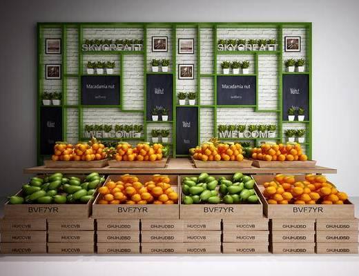 水果摊, 置物架, 植物, 水果, 相框, 水果店