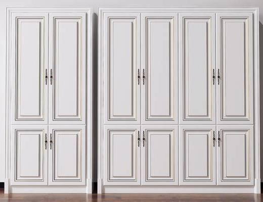 衣柜, 装饰柜, 美式