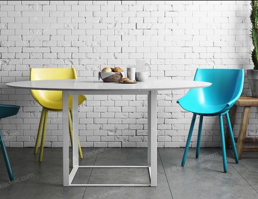桌椅组合, 餐桌椅, 椅子, 桌子, 现代椅子, 北欧椅子