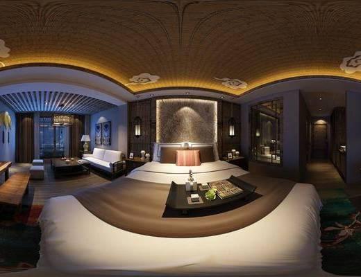 民宿, 酒店, 客房, 工装