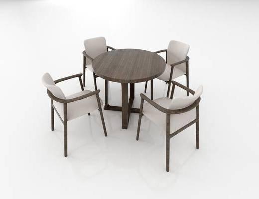 现代, 新中式, 桌椅