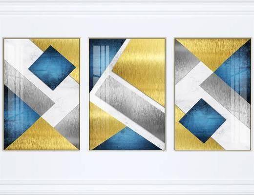 掛畫組合, 裝飾畫, 組合畫, 藝術畫, 抽象畫, 現代