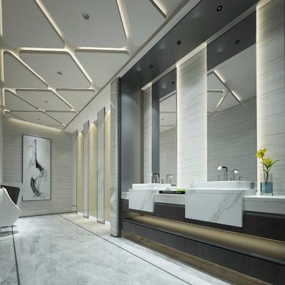卫生间, 洗浴组合, 装饰画