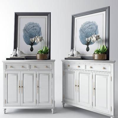 挂画, 鞋柜, 置物柜, 摆件组合