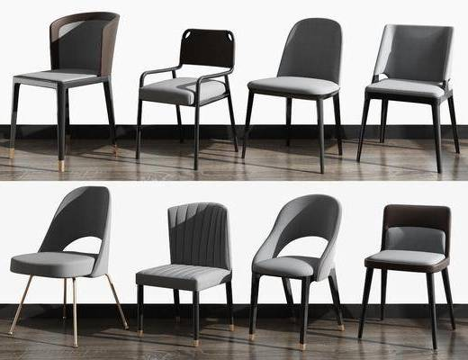 休闲椅组合, 单人椅, 北欧