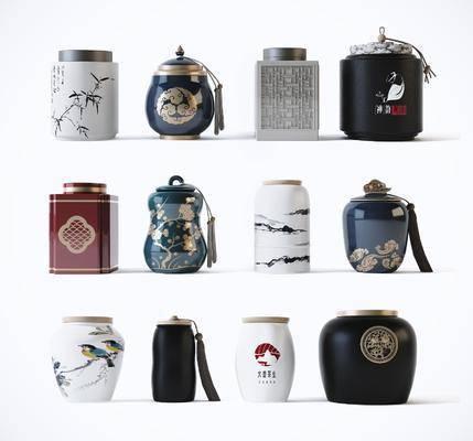 中式茶叶罐, 瓶罐
