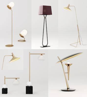 台灯, 落地灯, 灯具组合, 灯饰