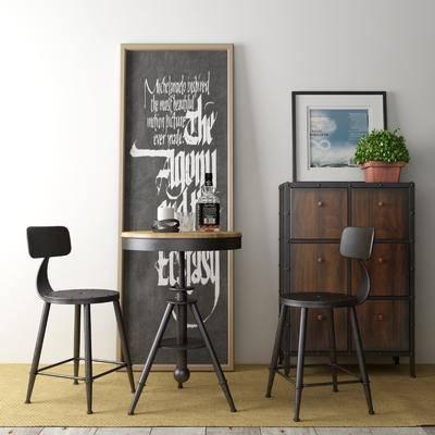 单椅, 酒柜, 柜架组合, 边几, 装饰画