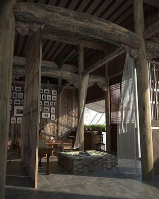 中式, 古建, 室内