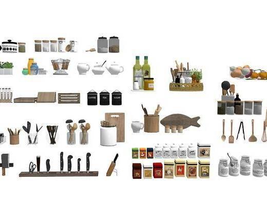 厨房用品, 厨具组合, 调味罐, 摆件组合