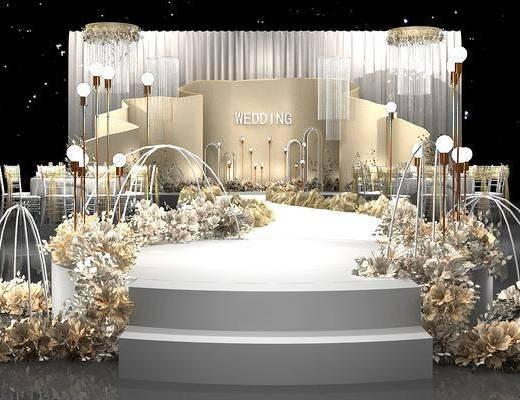 舞台, 背景墙, 植物