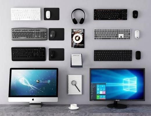 电脑, 鼠标, 屏幕