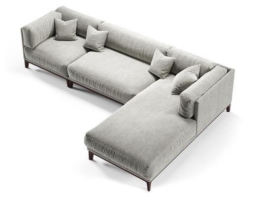 现代简约, 灰色, 沙发, corona, 现代沙发