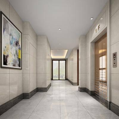 現代電梯間, 電梯間