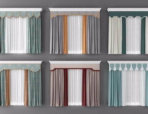 窗帘, 窗帘组合, 新中式