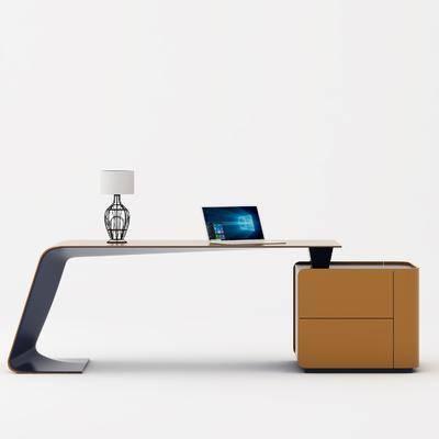 办公台, 办公室, 饰品模型, 现代