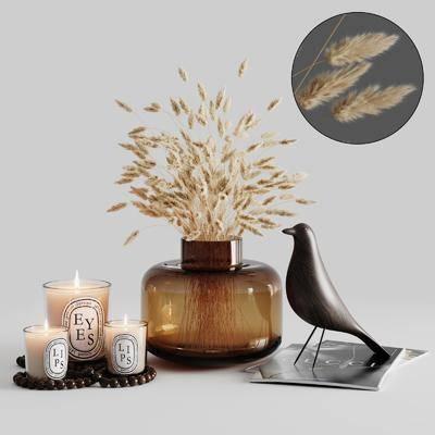 装饰品, 摆件组合, 蜡烛