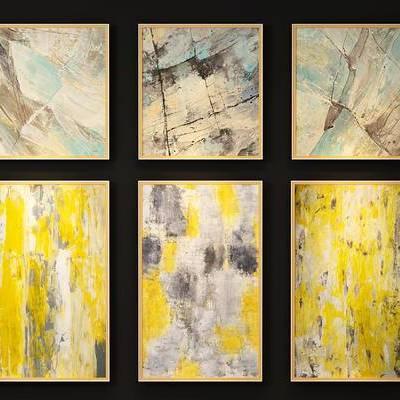 现代装饰画, 现代挂画, 抽象画