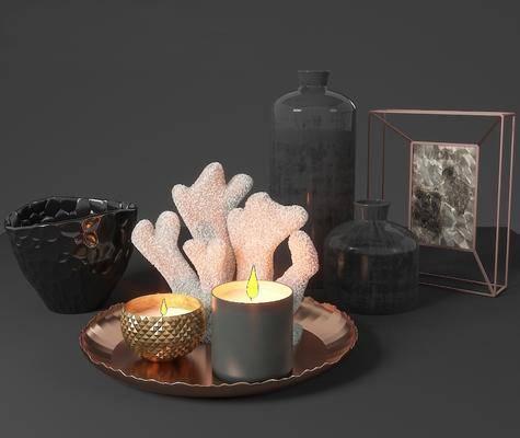 现代装饰摆件蜡烛