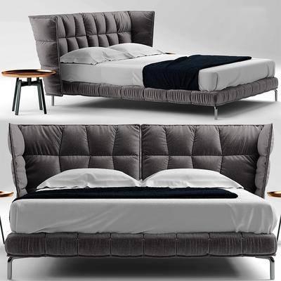 双人床, 床具, 茶几, 现代