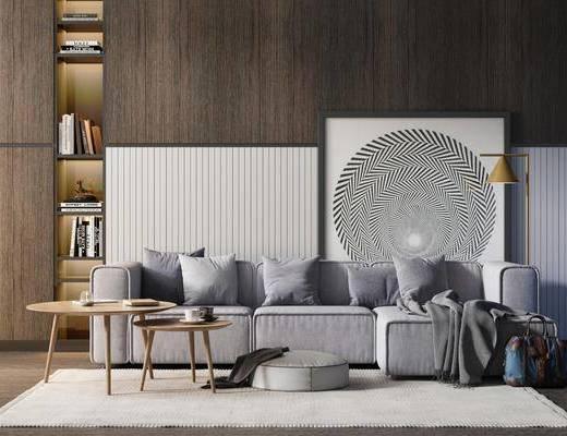 沙发组合, 现代沙发茶几组合, 沙发茶几组合