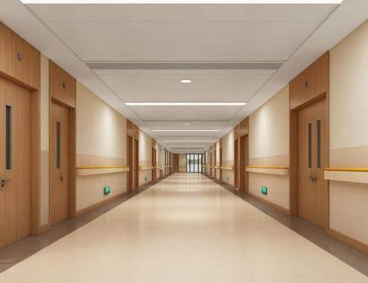 走廊过道, 大厅, 单人床, 单椅
