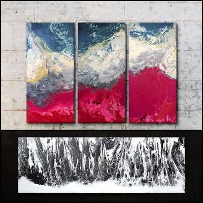 油画, 挂画, 现代刮画, 现代油画, 组合, 现代
