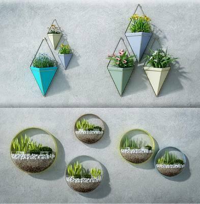 陈设饰品, 墙面装饰, 挂件, 盆栽, 植物挂件, 现代, 北欧