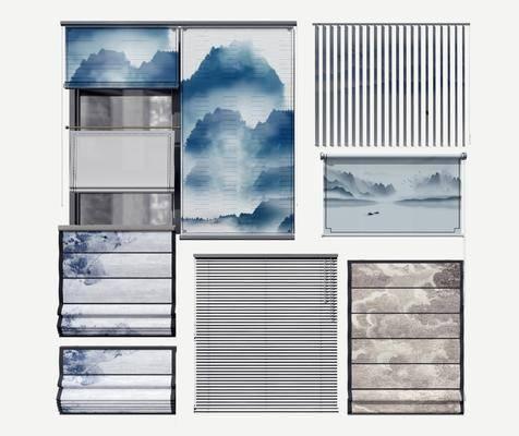 新中式窗帘, 窗帘组合