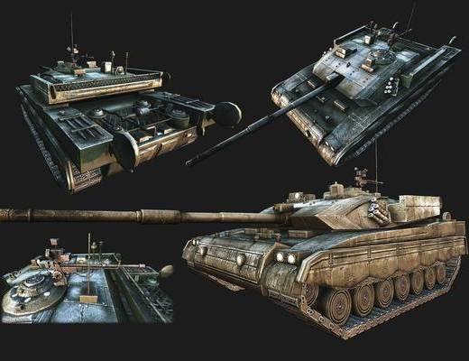 工业风, 坦克, 摆件