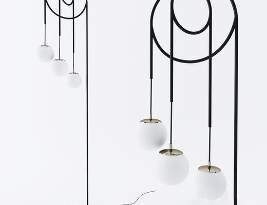 现代简约, 落地灯, 灯具