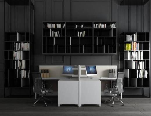 辦公桌組合, 書柜組合, 現代簡約
