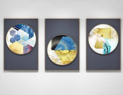 装饰画, 挂画, 抽象画, 照片墙, 现代