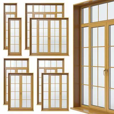 现代, 实木推拉门, 玻璃推拉门, 推拉门, 实木, 玻璃