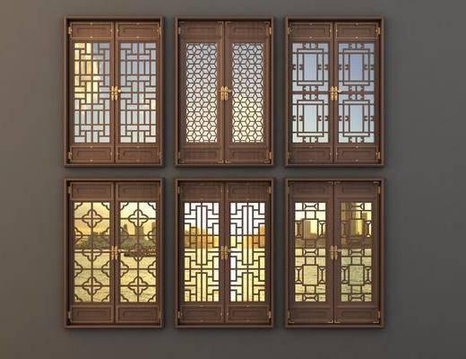 中式門窗, 仿古門窗, 鏤空窗花, 門窗
