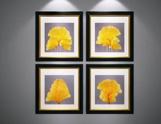 端景画, 树叶装饰画
