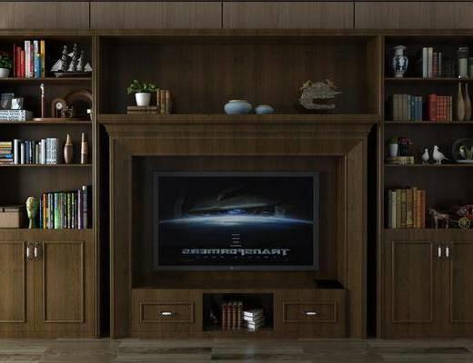 美式电视柜, 电视柜, 置物柜