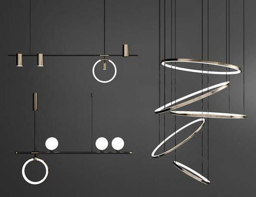 现代, 吊灯, 异形吊灯