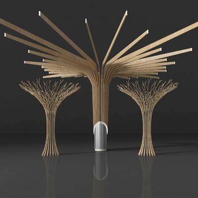 樹枝造型, 樹木, 現代