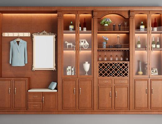 置物柜, 酒柜, 书柜, 柜, 美式柜, 美式