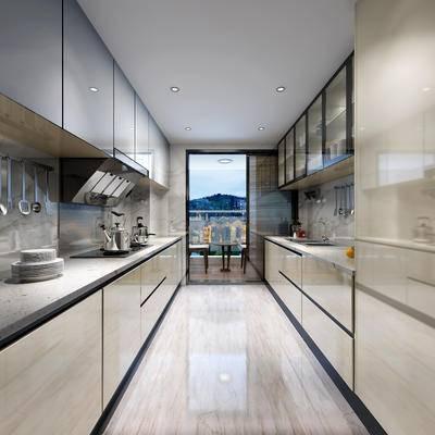 厨房, 现代厨房, 橱柜